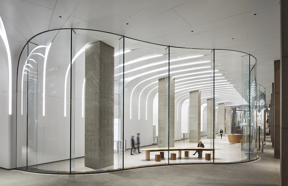 Corner detail of the Mercantile Exchange lobby, a project that will be explored at Facades+ Chicago