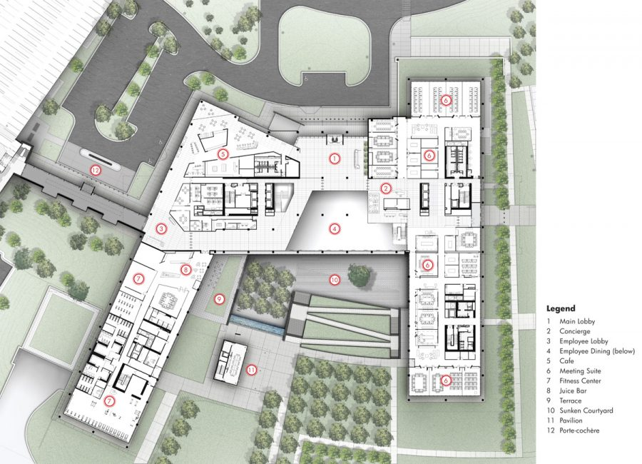 Zurich-North-America-Headquarters_Plan_Level-1-with-Key