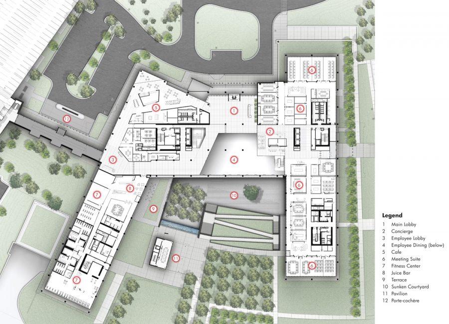 Zurich-North-America-Headquarters_Plan_Level-1-with-Key