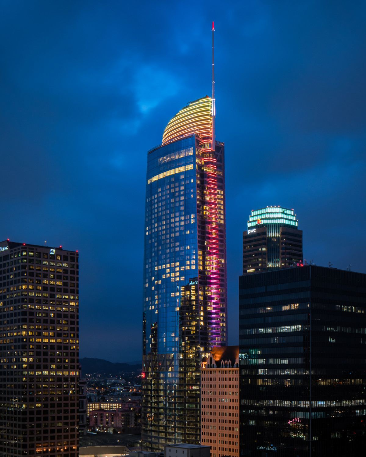 Wilshire Grand Lights (Sunset Colors)