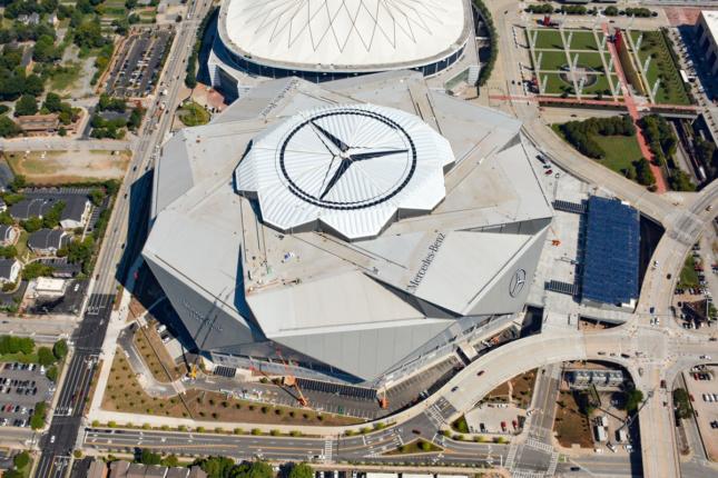 Kinetic Retractable Petals Cap New Landmark Stadium In