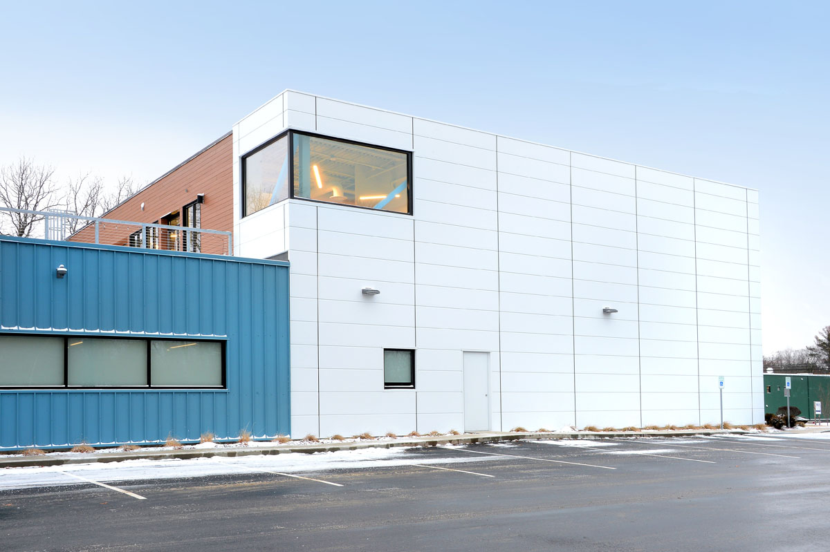 Insulated metal panels offer chic industrial warehouse