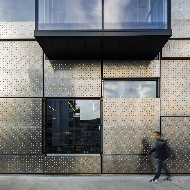 Snøhetta's Norwegian campus building features seawater-durable aluminum panels