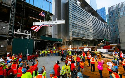 Kohn Pedersen Fox Associates' 30 Hudson Yards tops out