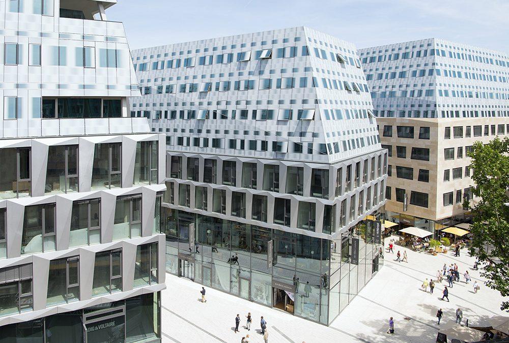 Behnisch Architekten's Dorotheen Quartier is a playful contemporary take on German vernacular form