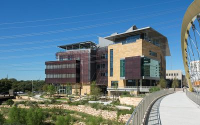 Perforated aluminum gives an edge to the Austin Central Library