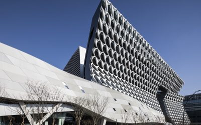 Morphosis Architects's Kolon One & Only propels a knotted cloud-like facade