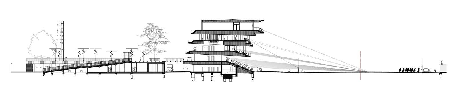 Coupe_transversale_sur_le_salon_PrÇsidentiel_et_l'escalier_d'honneur∏Dominique_Perrault_Architecte_Adagp