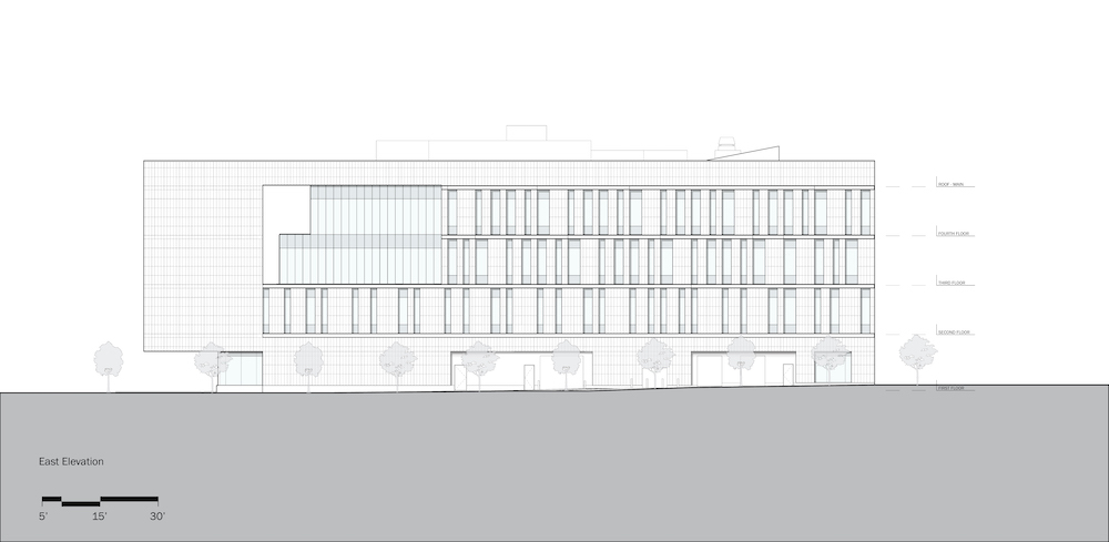 Rutgers University-Camden_Nursing and Science Building_East Elevation