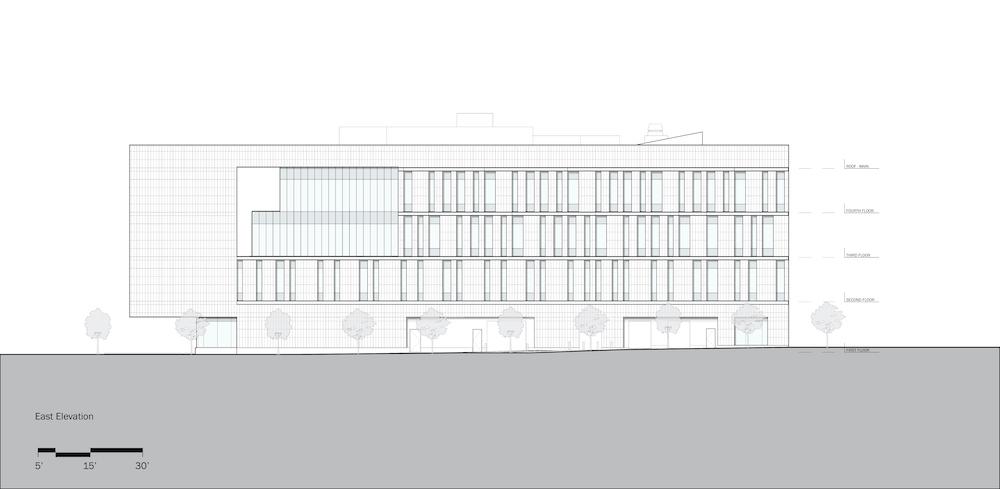 Rutgers University-Camden_Nursing and Science Building_East Elevation