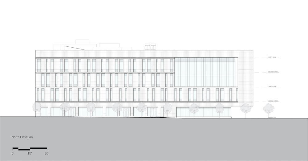 Rutgers University-Camden_Nursing and Science Building_North Elevation