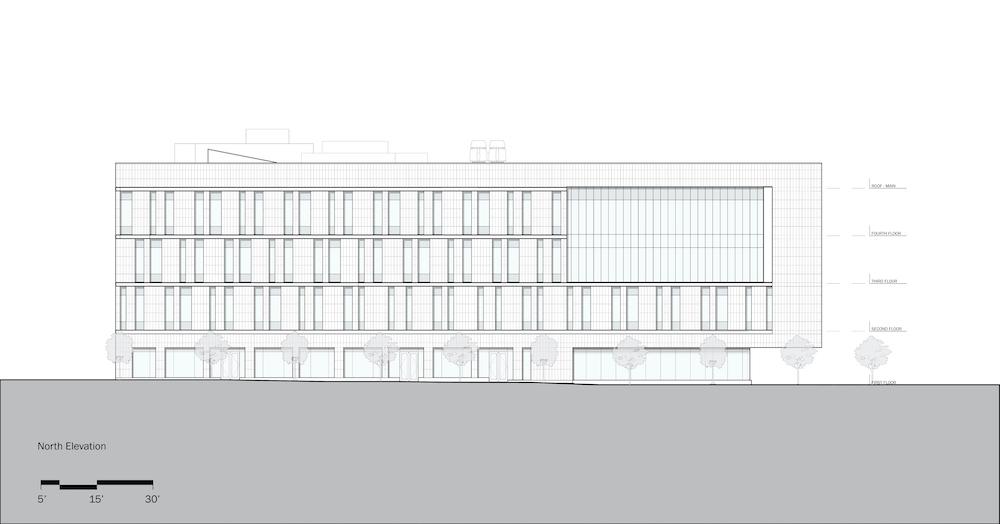 Rutgers University-Camden_Nursing and Science Building_North Elevation