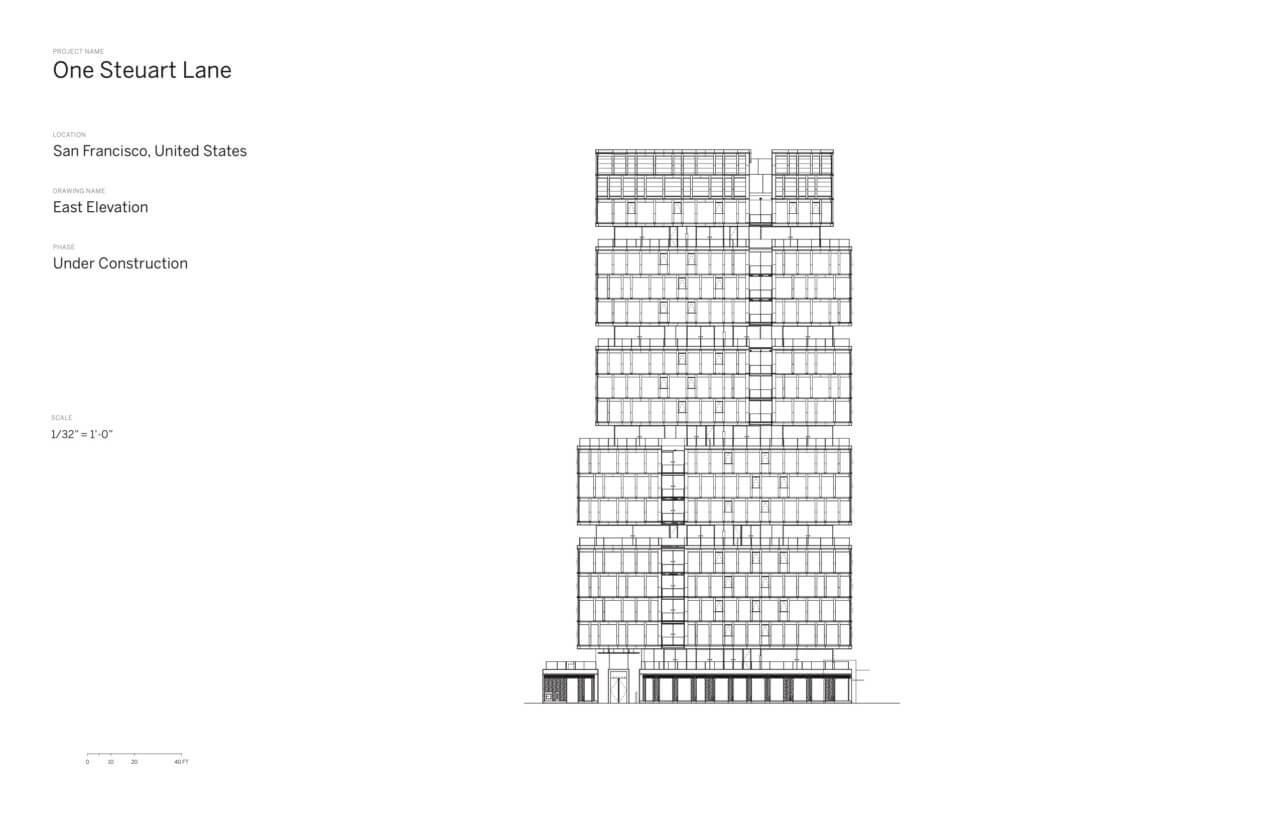 elevation of the residential tower