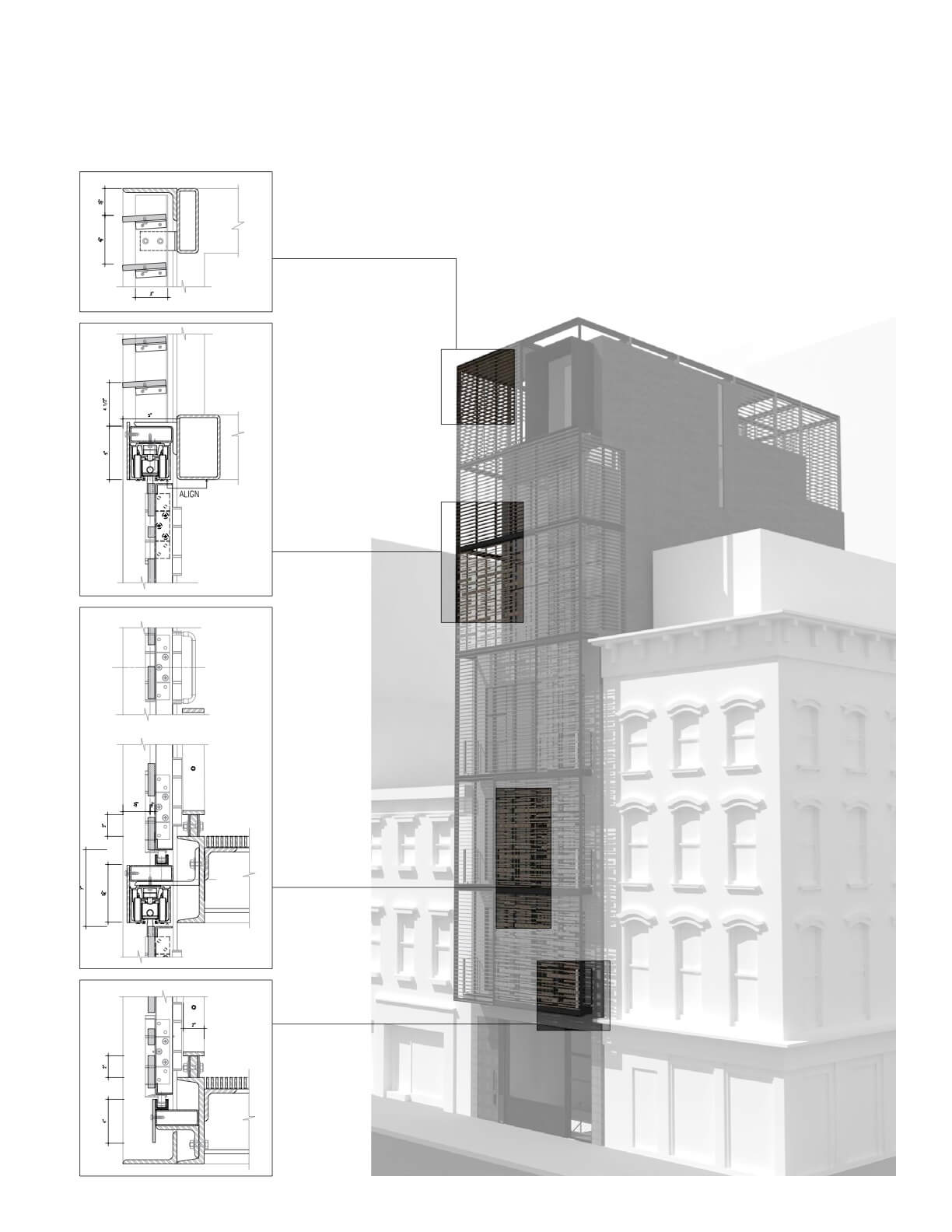 axonometric and diagram of building