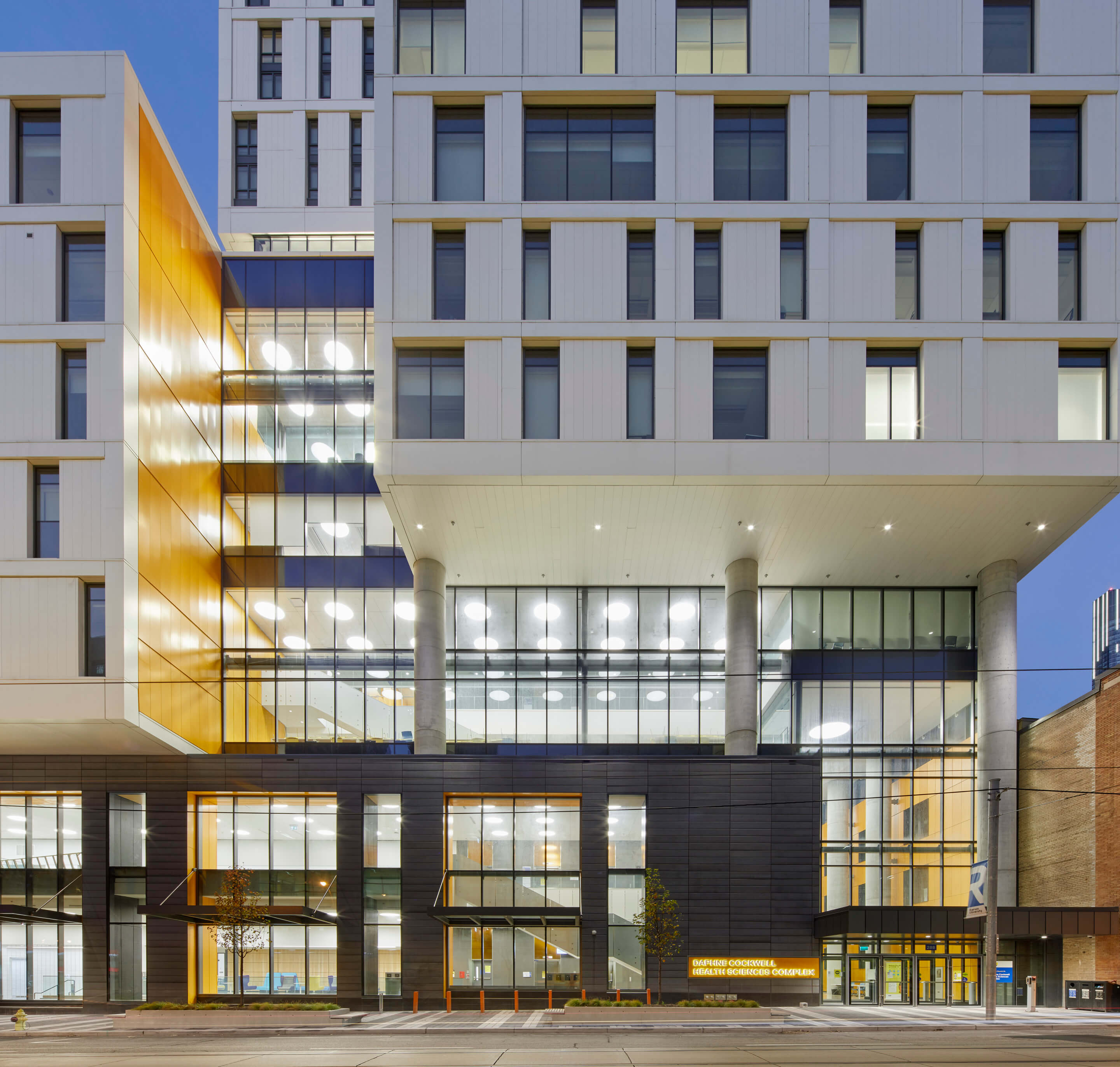 A multifaceted blocky building at Ryerson University