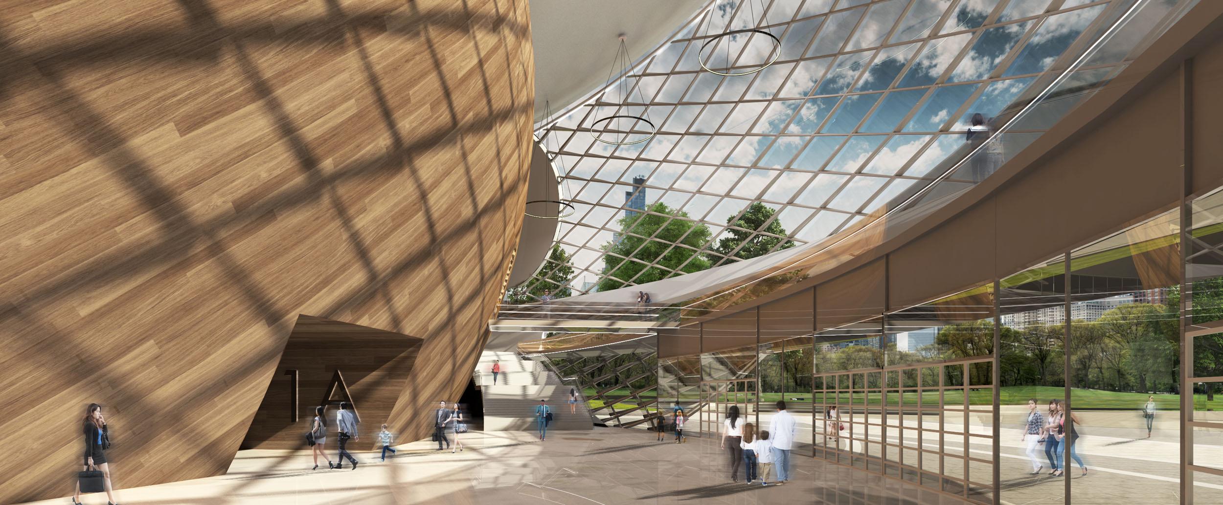 Table Tennis Stadium – Render – Interior Lobby