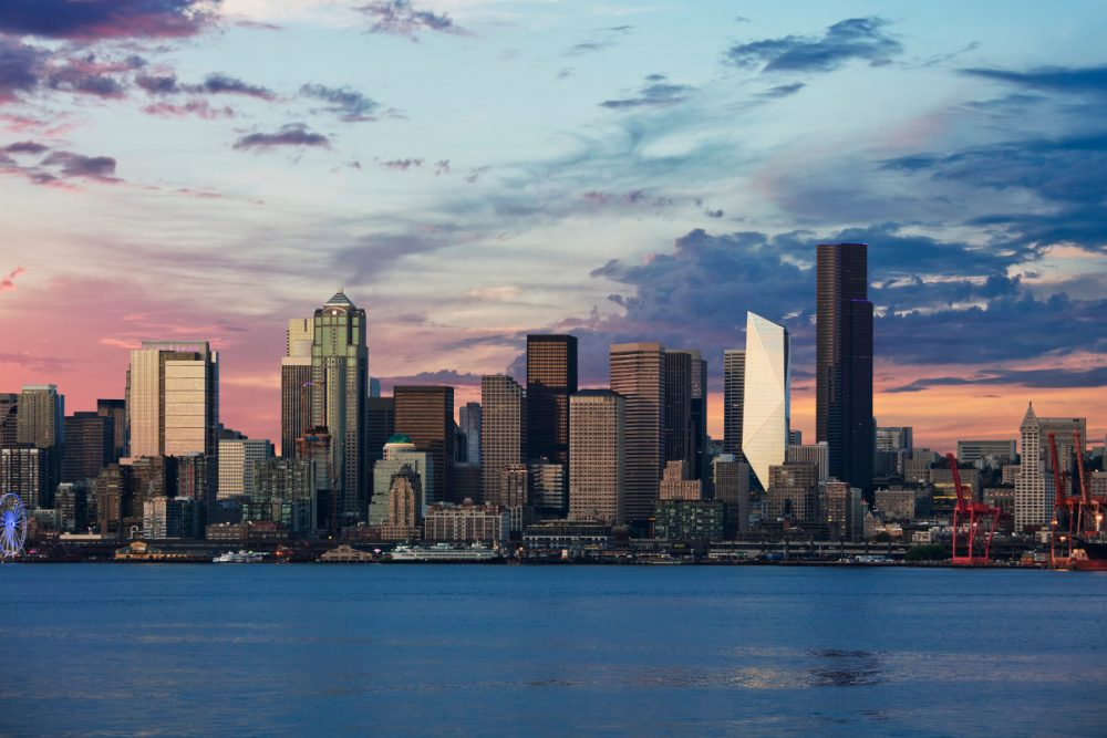 The-Mark-in-the-Downtown-Seattle-skyline-at-dusk_credit-Connie-Zhou-1