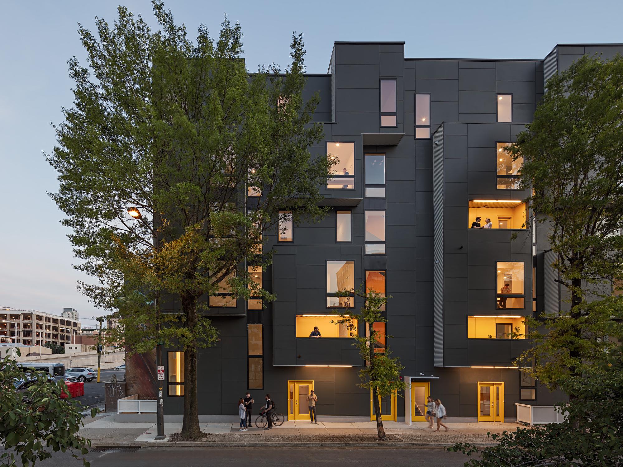XS House Fiber Cement Facade, Photo by Sam Oberter