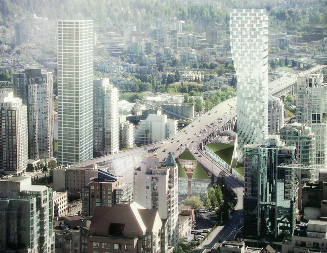 Vancouver House, a twisting cantilevered tower