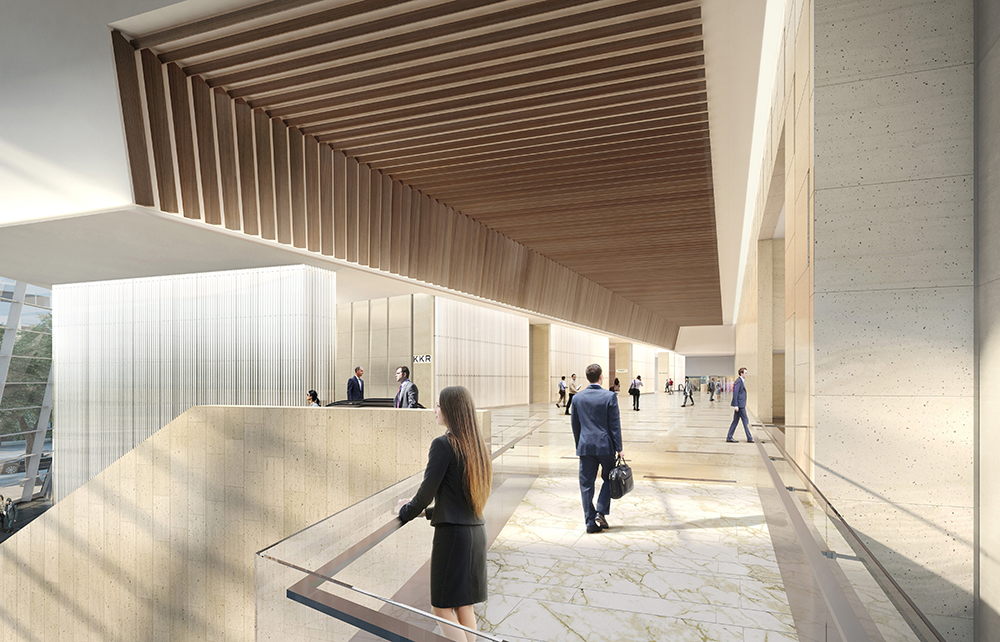 30 Hudson Yards West Lobby, Upper Level - courtesy of Related-Oxford