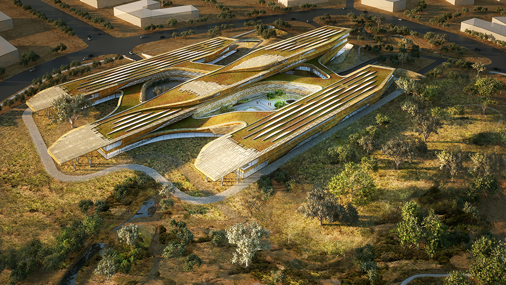 SHoP Architects created an iPhone app to construct the Botswana Innovation Hub