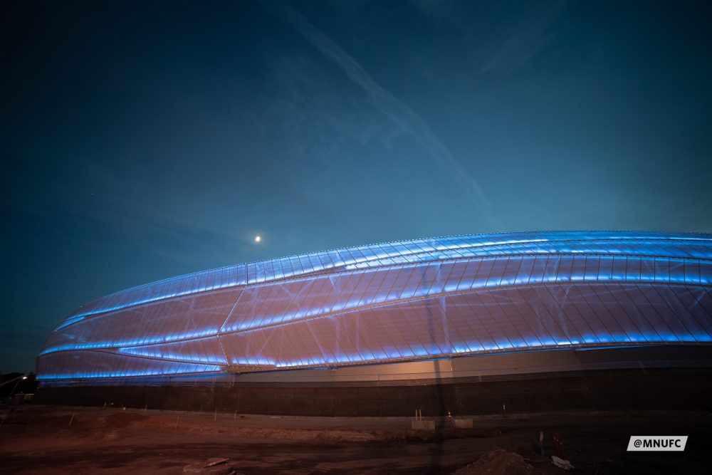 Allianz Field, Minnesota United's new home, glows with PTFE-coated facade